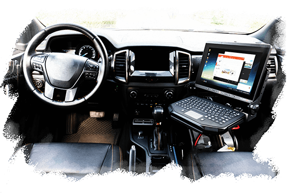 RuggON CHASER, rugged monitor, police vehicle computer