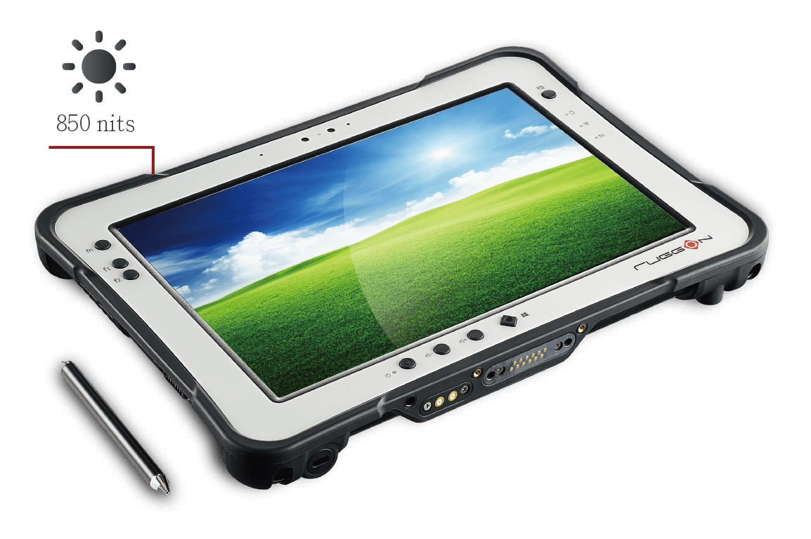 RuggON PX-501 rugged tablet supports 1000 nits sunlight readable and hyper dimming technology