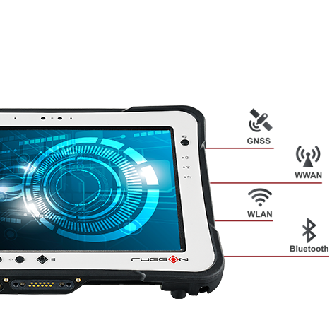 RuggON PX-501 rugged tablet supports WiFi, bluetooth, 4G LTE, GPS