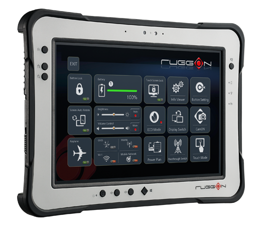 RuggON PX-501 rugged tablet supports sunlight readable, fingerprint, UHF RFID, barcode reader